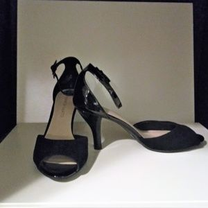 Franco Sarto Suede & Patent Leather 7.5 Heels NWT